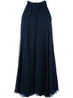 многослойное платье с плиссировкой Lanvin