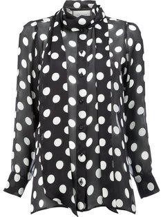 прозрачная блузка с бантом Gucci