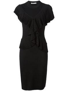 платье-карандаш с оборками Givenchy