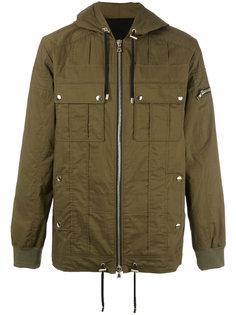 пальто с капюшоном Balmain