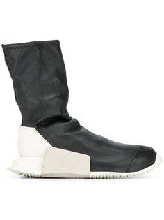 кроссовки Rick Owens x Adidas с деталью в форме носка Rick Owens
