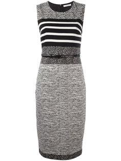 облегающее платье со смешанным принтом Max Mara