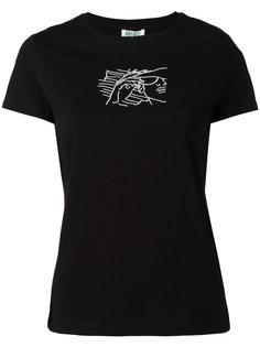 футболка с вышивкой лица Kenzo