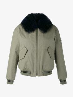 куртка-бомбер с меховым воротником Army Yves Salomon