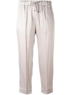 укороченные брюки на завязках Brunello Cucinelli