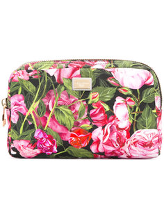 косметичка с рисунком из роз Dolce & Gabbana