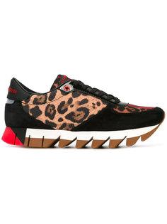 кроссовки с леопардовым рисунком Dolce & Gabbana