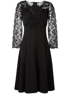 платье миди с кружевными рукавами Ermanno Scervino