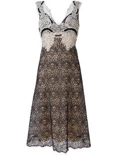 кружевное платье с V-образным вырезом Ermanno Scervino