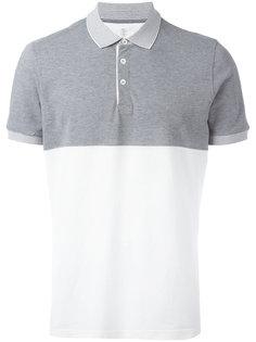 двухцветная рубашка-поло Brunello Cucinelli
