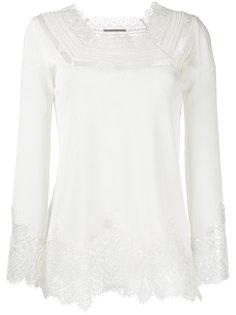 блузка с кружевной отделкой Ermanno Scervino
