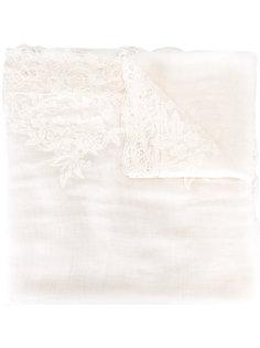 шарф с кружевной отделкой Ermanno Scervino