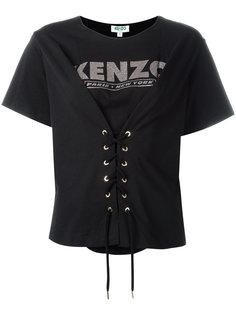футболка со шнуровкой Kenzo