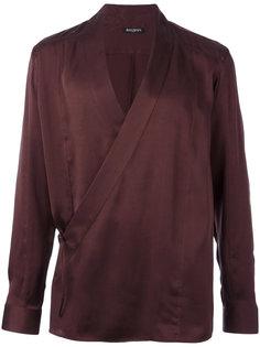 рубашка с запахом Balmain