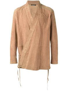 куртка из кожи ягненка с запахом Balmain