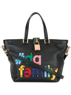 сумка-тоут Dolce с нашивкой #DG family Dolce & Gabbana