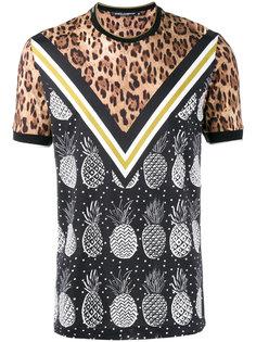 футболка со смешанным принтом Dolce & Gabbana