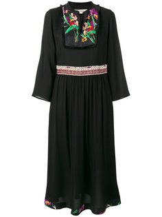 платье с плиссировкой и цветочным принтом Etro