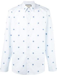 рубашка с цветочной вышивкой Gucci
