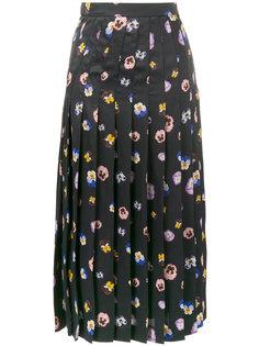 плиссированная юбка Ditsy Pansy Christopher Kane