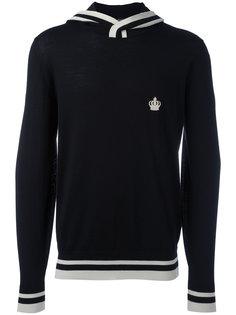 contrast stripe logo hoodie Dolce & Gabbana