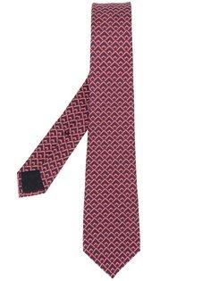 галстук с геометрическим узором  Gucci