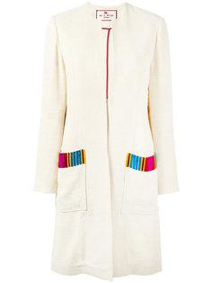 пальто с накладными карманами Etro