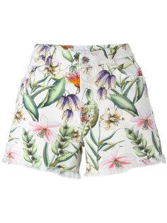 джинсовые шорты с цветочным рисунком Ermanno Scervino