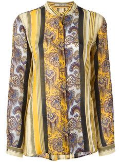 полосатая блузка без воротника Etro