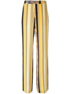 полосатые широкие брюки  Etro