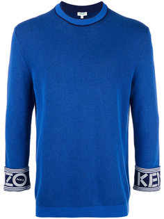 branded turn-up sweatshirt Kenzo