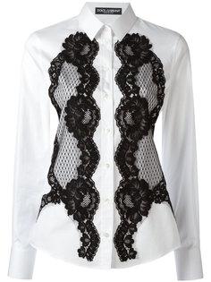 рубашка с кружевом Dolce & Gabbana