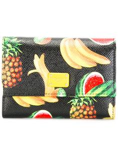 кошелек с принтом тропических фруктов Dolce & Gabbana