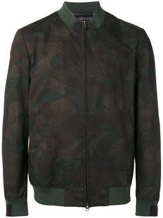 куртка-бомбер  с растительным принтом Etro