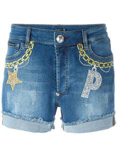 embroidered denim shorts Philipp Plein