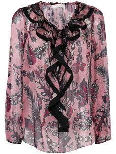 блузка с рюшами и цветочным принтом Chloé