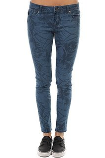 Джинсы узкие женские Roxy Suntripperprint Captains Blue Mister