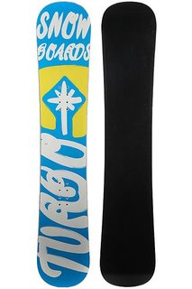 Сноуборд Turbo-FB Turbo Snowboards Logo 2 Light Blue/Yellow/White