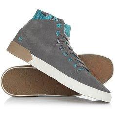 Кеды кроссовки высокие Volcom Buzzard Shoe Gunmetal Grey
