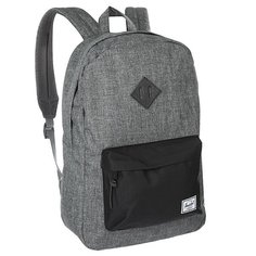 Рюкзак городской Herschel Heritage Raven Crosshatch/Black/Black Pebbled Leather