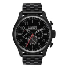 Кварцевые часы Nixon Safari Dual Time Black