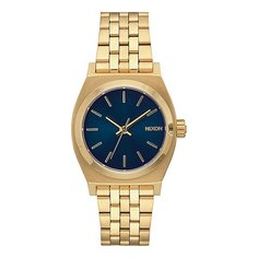 Кварцевые часы женские Nixon Medium Time Teller Light Gold/Cobalt
