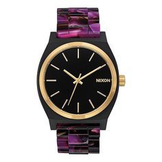 Кварцевые часы женские Nixon Time Teller Acetate Multi/Black/Gold
