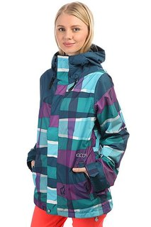 Куртка утепленная женская Volcom Mellea Jacket Scrambled Stripe