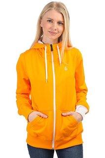 Толстовка классическая женская Volcom Carpel Basic Hooded Full Zip Orange
