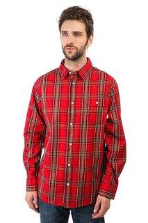 Рубашка в клетку Burton Mns Fletcher Ls Wvn Cardinal Plaid