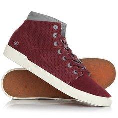 Кеды кроссовки высокие Volcom Buzzard Shoe Burgundy