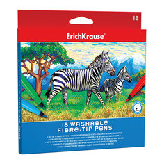 Фломастеры ArtBerry easy washable, 18 цветов Erich Krause