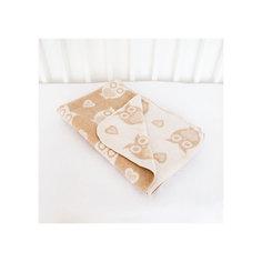 Одеяло байковое Совы 85х115, Baby Nice, бежевый