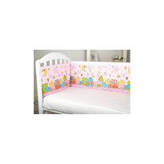 Борт в кроватку Звездопад, Baby Nice, розовый